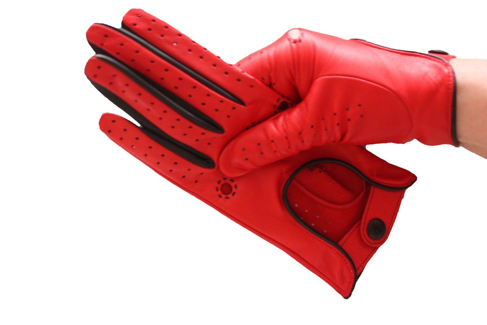Автомобильные перчатки из кожи