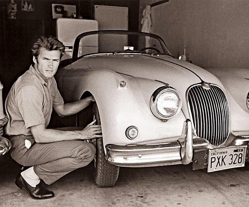 Клинт Иствуд и Jaguar XK150