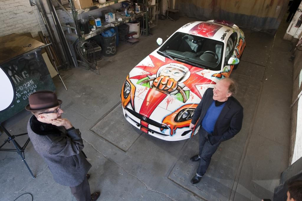 Граффити на автомобиле