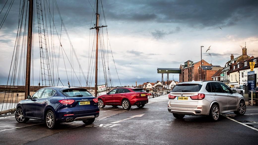 Maseratti Levante, Jaguar F-Pace и BMW X5