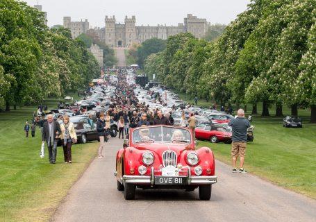 Автомобили Jaguar в Виндзорском парке