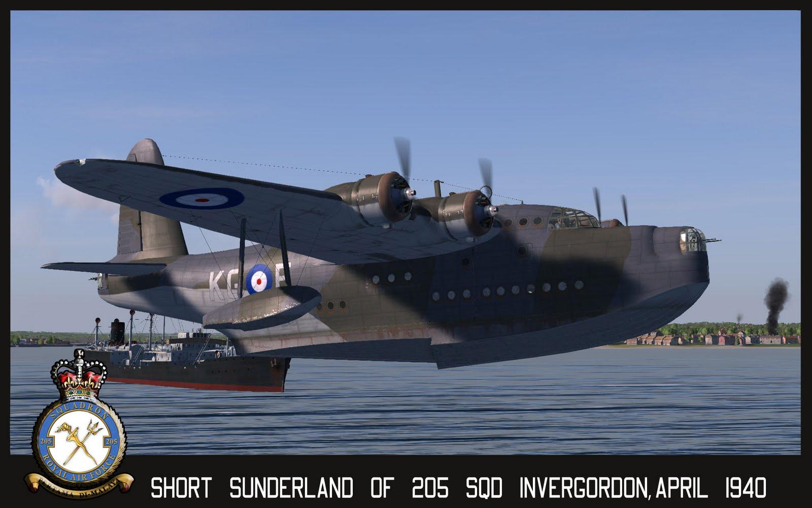 Летающая лодка Short Sanderland