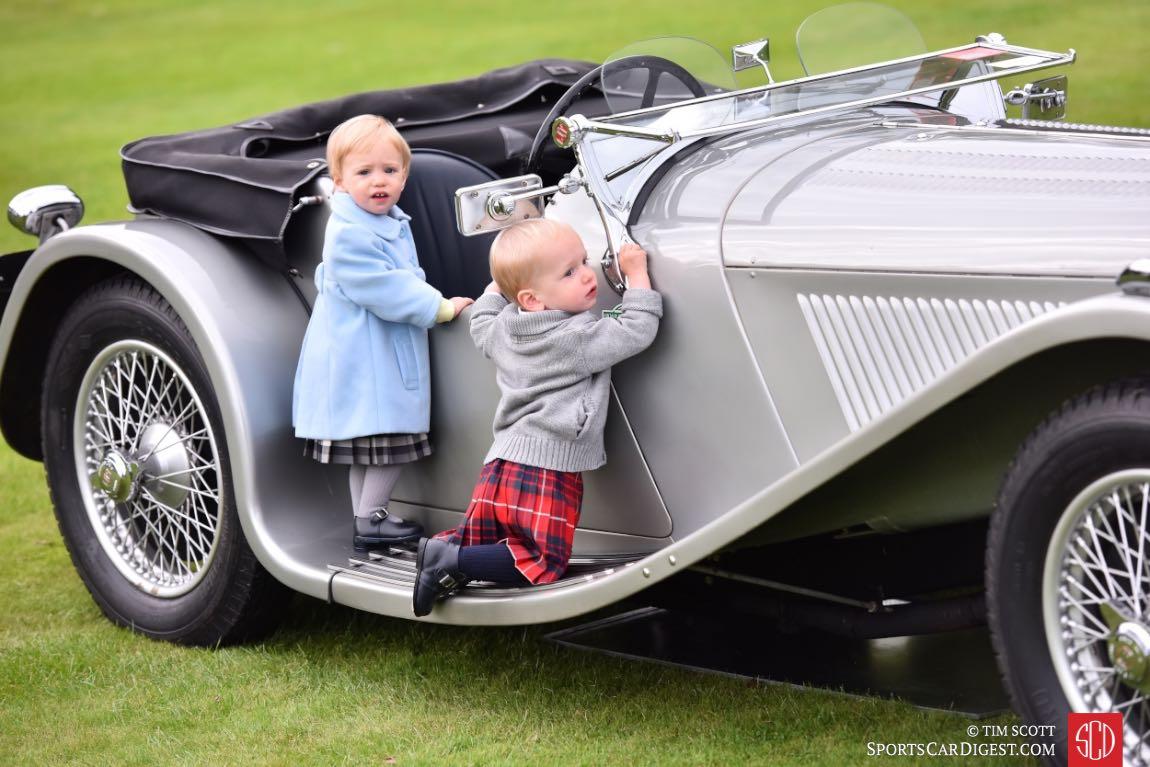 Lots of interest in the 1937 Jaguar 100