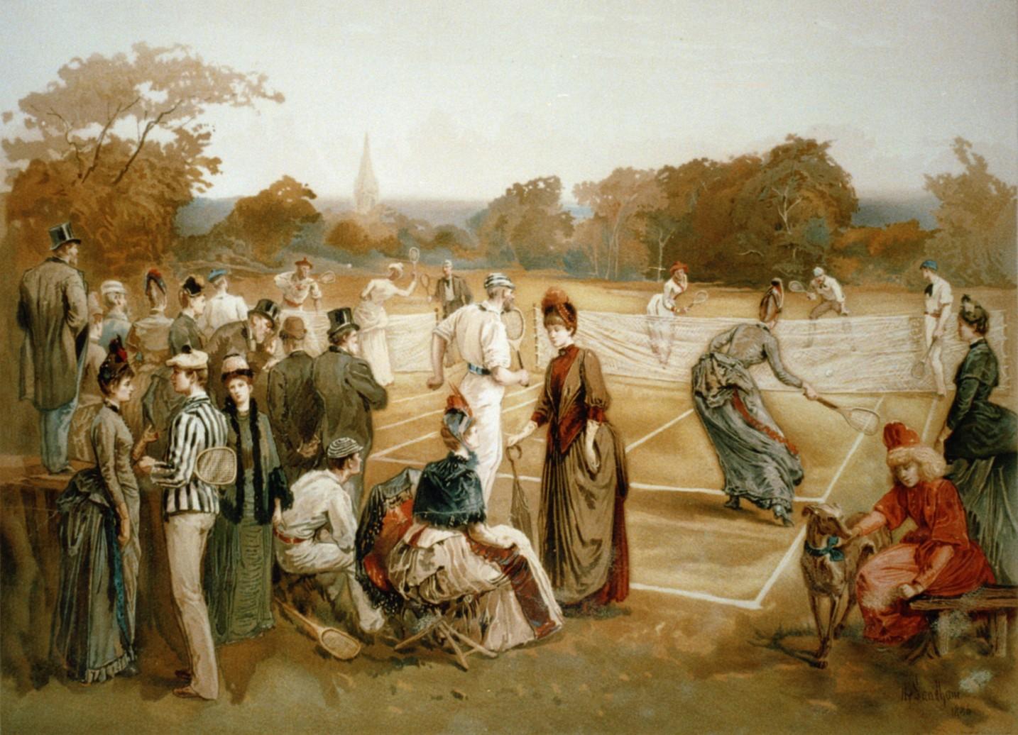Картина с игрой в теннис