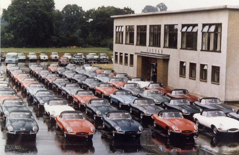 Дилерский центр с Jaguar E-type 1961 год