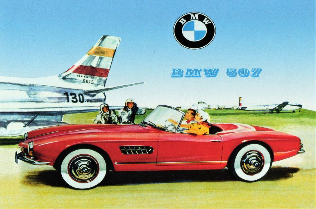 Реклама BMW 507
