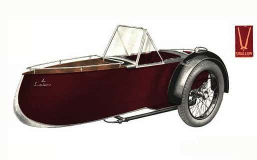Swallow Sidecar model 11 De Luxe Launch