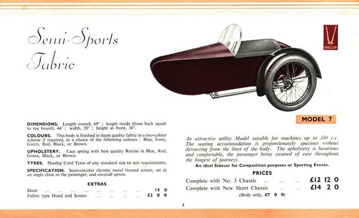 Swallow Sidecar model 7 описание