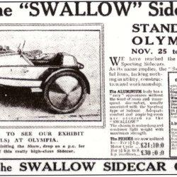 Swallow Sidecar model II Lightweight газетная вырезка