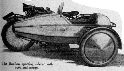 Газетная вырезка Swallow Sidecar model II