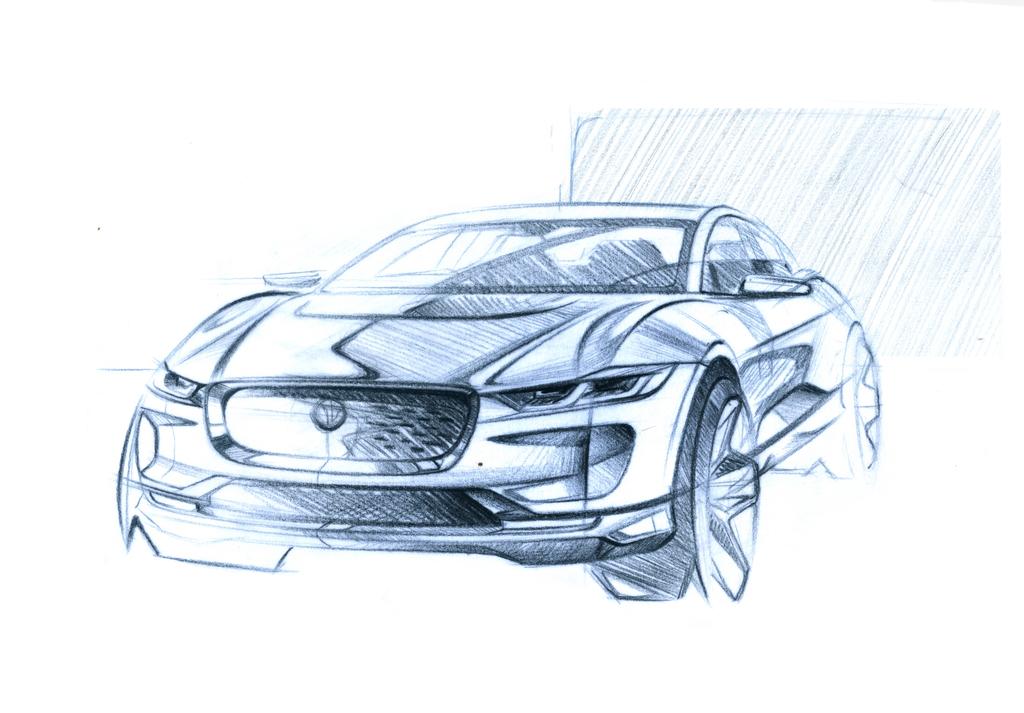 Jaguar IPACE Sketch