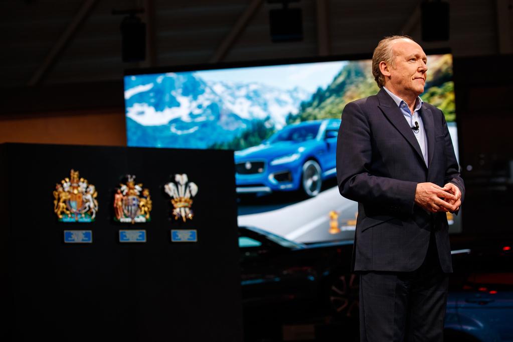 Ian Callum на автосалоне в Женеве