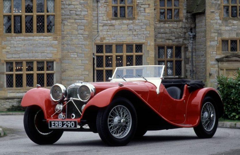 Jaguar SS100 - выпуск 1936 года
