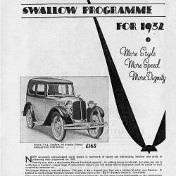 Austin 7 Swallow Sports Saloon брошюра 1931 года
