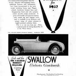 Hornet Swallow September 1932