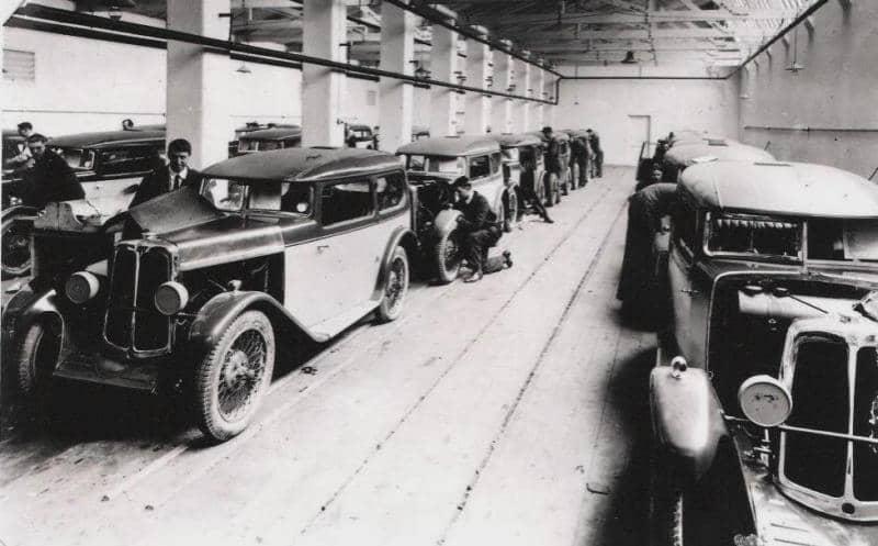 Производство Standard Swallow в Coventry