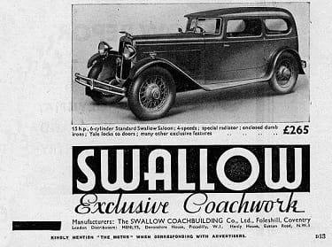 Standard Swallow Saloon 16 HP