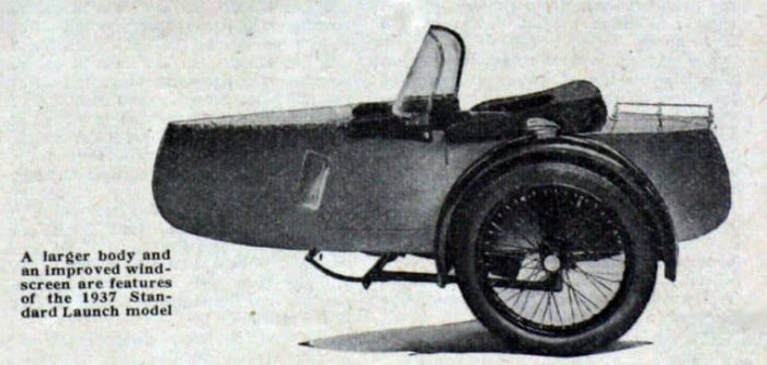 Swallow Sidecar model 10 Standard Launch вырезка 1937 года