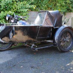 Swallow Sidecar model 11 De Luxe Launch