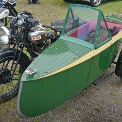 Отреставрированная Swallow Sidecar model 11 De Luxe Launch