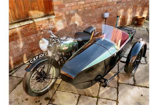 Swallow Sidecar модель 9d De Luxe Touring Model