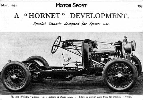 Wolseley Hornet Special Chassis