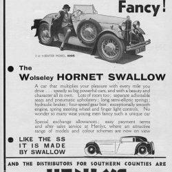 Wolseley Hornet Swallow April 1932
