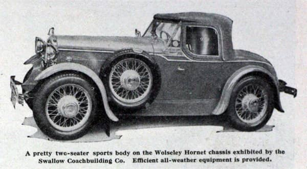 Wolseley Hornet Swallow two-seater