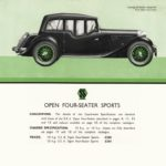 SS 2 Open Four Seater Sports - catalogue 1934
