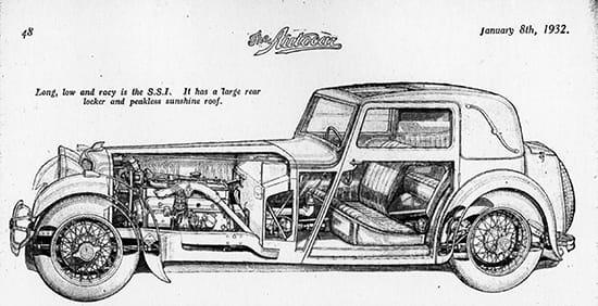 SS 1 в журнале The Autocar 1932 года
