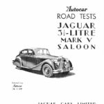 Autocar road test 1949 - Jaguar Mk V Saloon