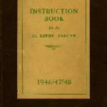 Jaguar 1.5 Litre Instruction book 1946