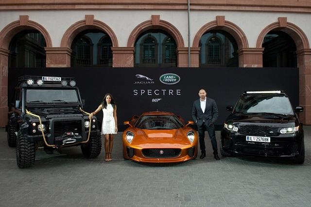 Jaguar Land Rover автомобили для фильма SPECTRE