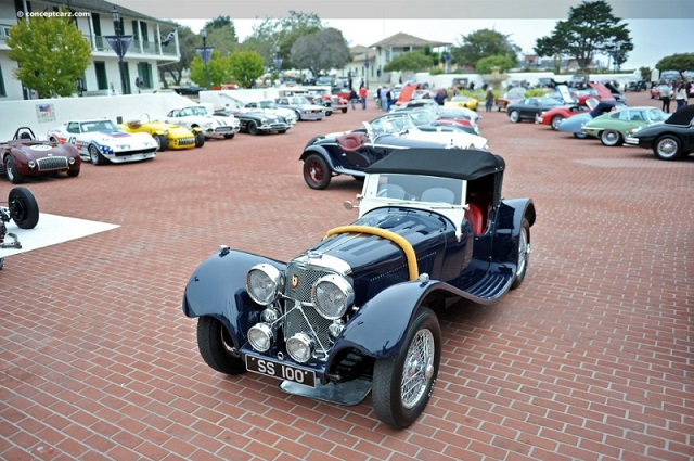 SS Jaguar 100 Roadster в Монтерее