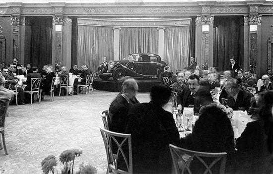 SS Jaguar at Mayfair Hotel - London 1935