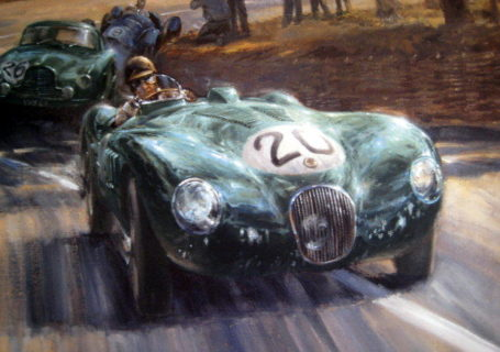 Jaguar C-Type в Ле Ман