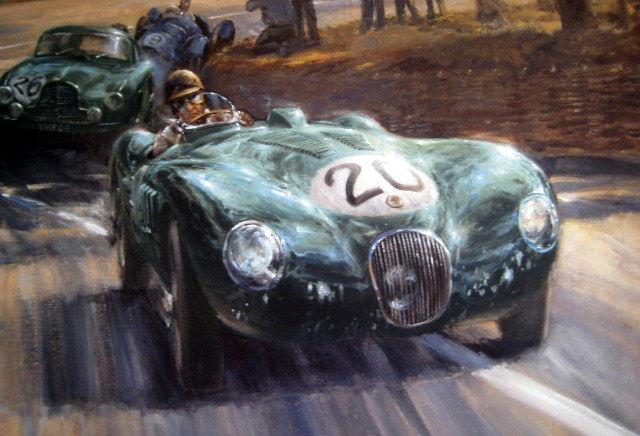 Jaguar C-Type в Ле Ман