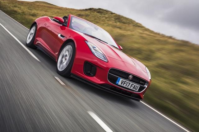 Jaguar F-Type красный кабриолет