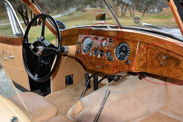 Jaguar XK120 ящик для перчаток