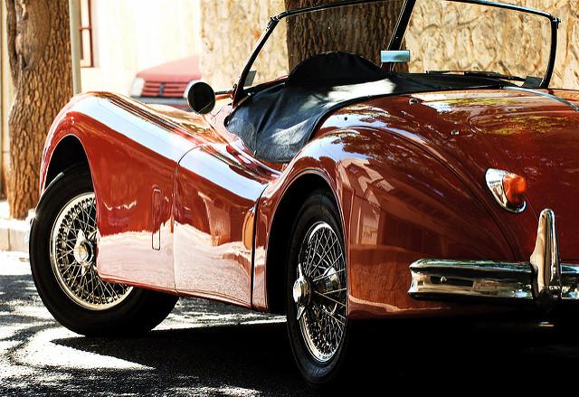 Jaguar XK140 летом
