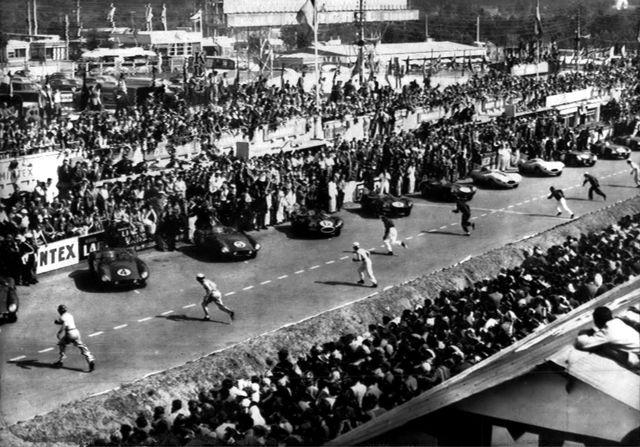 Le Mans старт гонки в 1955 году
