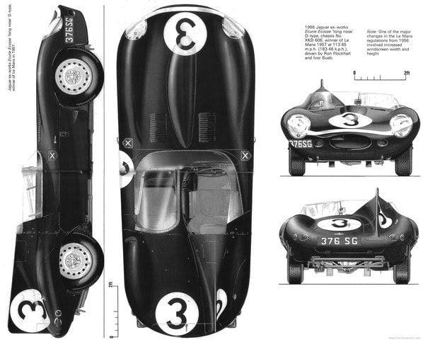 Jaguar D-Type Long Nose parameters