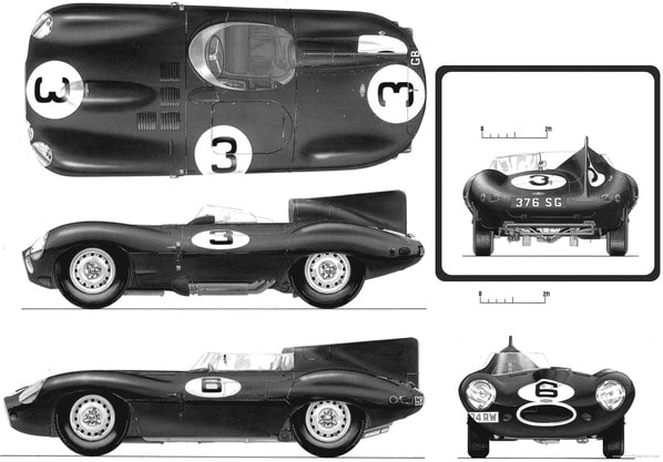 Jaguar D-Type parameters