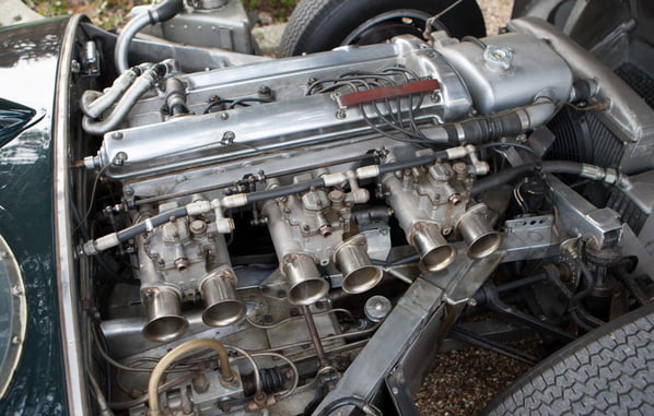 Jaguar D-Type Prototype engine