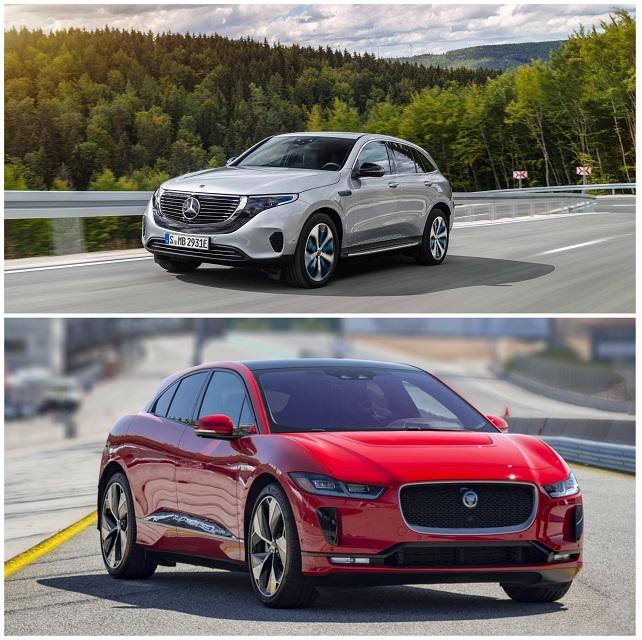 Электромобили Mercedes и Jaguar