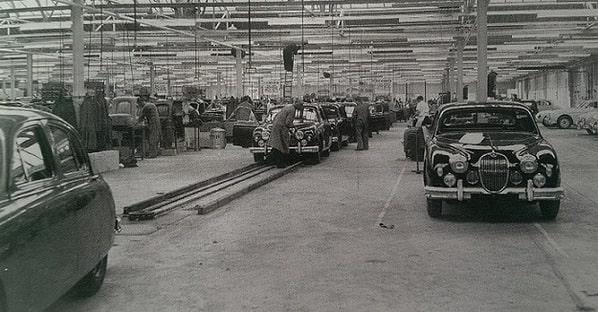 Jaguar Mk 1 на заводе Browns Lane