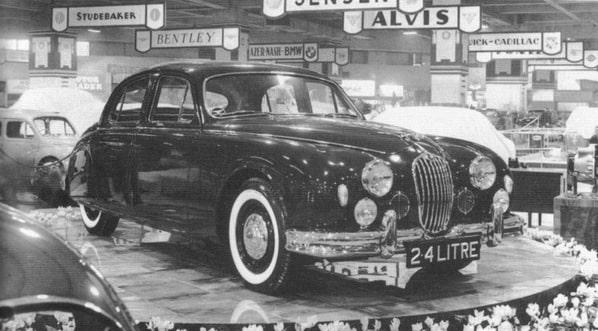 Jaguar Mk 1 on Earls Court Motor Show 1955