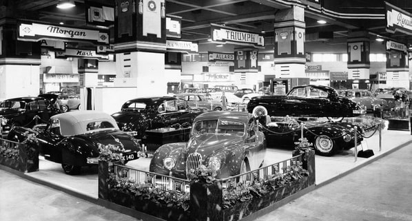 Jaguar на Earls Court Motor Show 1954