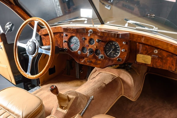 Jaguar XK140 Fixed Head Coupe interior