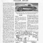 Jaguar XK150 Service Data 1960